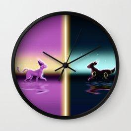 Espeon And Umbreon Wall Clock