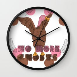 No More Ghosts - Pink Headed Duck Wall Clock
