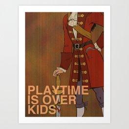 """F@#k Fairy Tales!"" - Captain Hook Art Print"