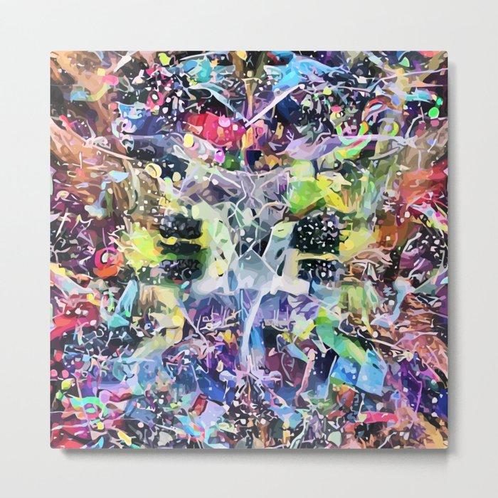 Crow's Paintbrush Metal Print