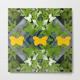 Three yellow butterflies Metal Print