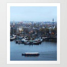 Amsterdam Winter Evening Art Print