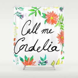 Call Me Cordelia- Red Flowers Shower Curtain
