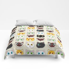 Cute Cat Expressions Pattern Comforters