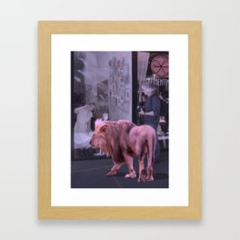 Searching the Beauty. African Invasion Framed Art Print
