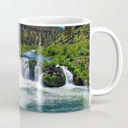 Photo USA Steelhead Falls Nature Mountains Waterfa Coffee Mug