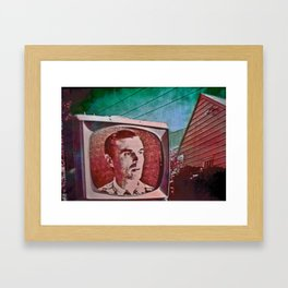 A Talking Head Framed Art Print