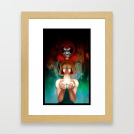 The Balance of Good and Evil Framed Art Print