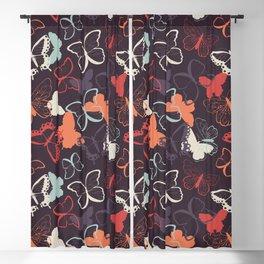 Butterfly pattern 009 Blackout Curtain