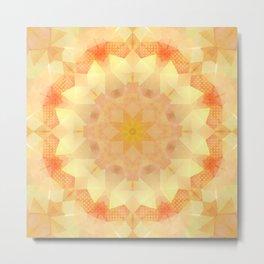 Orange Dream Mandala Metal Print