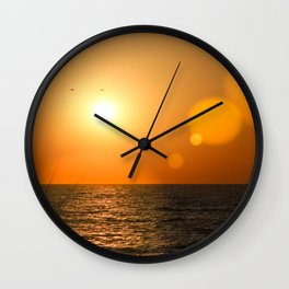 Sunset Tel Aviv Wall Clock
