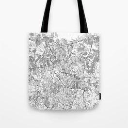 Jakarta White Map Tote Bag
