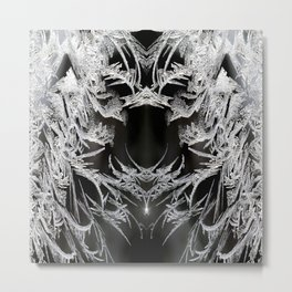 Ice Crystals In Black And White #decor #society6 #homedecor Metal Print