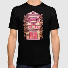 Tropical House – Pink Ombré MEDIUM Black Mens Fitted Tee