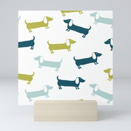 Lovely dachshunds in great colors Mini Art Print