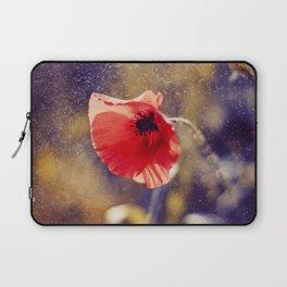 Red Poppy On Violet Laptop Sleeve