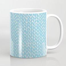Hand Knit Sky Blue Mug