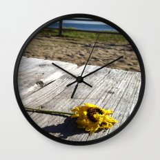 flower by the sea Wall Clock