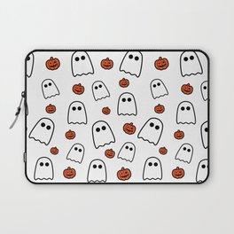 Halloween Ghosts And Pumpkins Laptop Sleeve