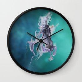 Deep Ocean Blue Wall Clock