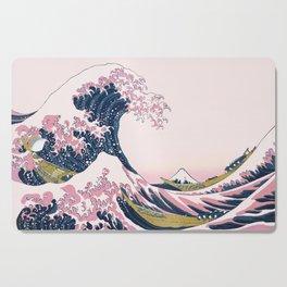 The Great Pink Wave off Kanagawa Cutting Board