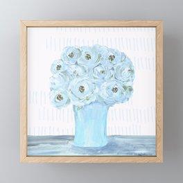 Boho still life flowers in vase Framed Mini Art Print