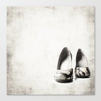 shoes Canvas Prints featuring shoes by Ingrid Beddoes
