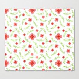 Happy floral pattern Canvas Print