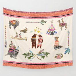 Dancing Bear Couple in Love Wall Tapestry
