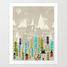 happy in the mountains Art Print