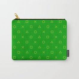 Green Gamer Pattern Carry-All Pouch
