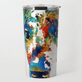 Colorful Great Dane Art Dog By Sharon Cummings Travel Mug