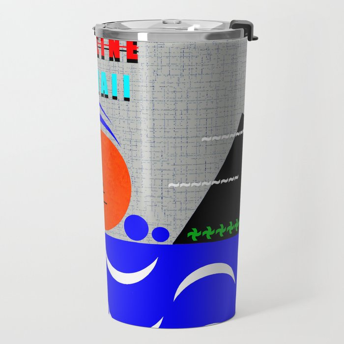 Pipeline Hawaii stickman design A Travel Mug