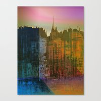 Canvas Prints featuring Lights close to the Harbor / Urban Fantasy 14-01-17 by Menchulica