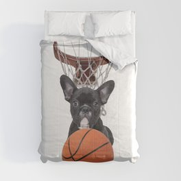 Sports Basket Ball - French Bulldog Comforters