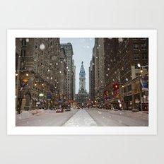 Snow, Philadelphia Art Print