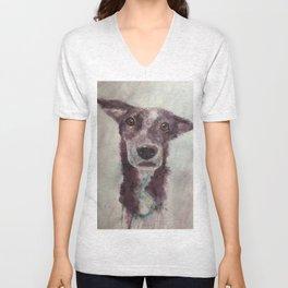 Parson, the cattle dog Unisex V-Neck