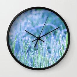 Lovely fresh morning in the field #fresh #green Wall Clock