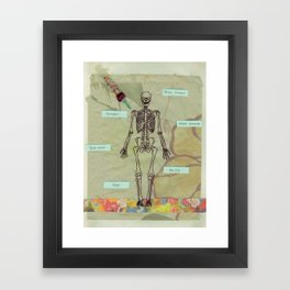 written in your blood Framed Art Print