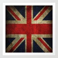 british flag Art Prints featuring British flag by Beauti Asylum