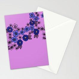 blossom of Flowers blue - violet Stationery Cards