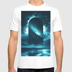Cosmic Storm White MEDIUM Mens Fitted Tee