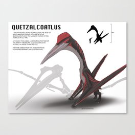 The Mighty Dinosaurs: #2 Quetzalcoatlus Canvas Print