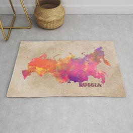 Russia map Rug