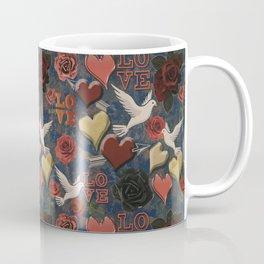LOVE Vintage Pattern Coffee Mug
