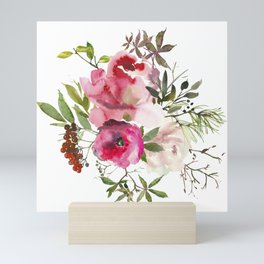 Watercolor bouquet Mini Art Print