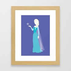 Elsa from Frozen Framed Art Print