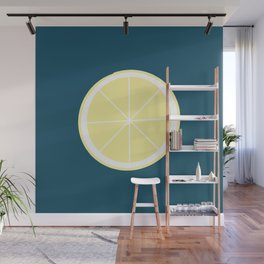 Modern Yellow Lemon Pattern Wall Mural