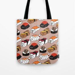 Sushi Poodle Tote Bag