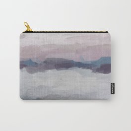 Plum Purple Lavender Blue Abstract Painting Ocean Waves Cloud Horizon, Modern Wall Art, Digital Carry-All Pouch